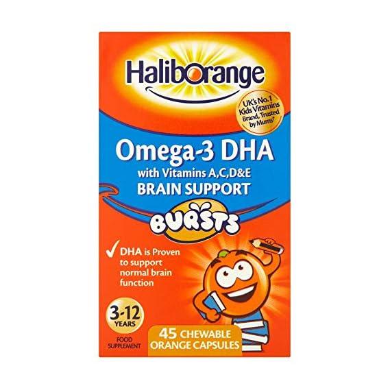 Seven Seas Kid's Haliborange Omega-3 Chewy Orange Tablets-45