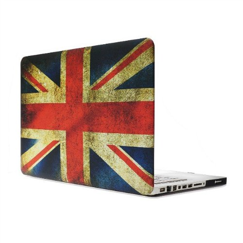 Old Klunky UK Flag Se7enline 3 in 1 Bundle Rubberized Frosted Hard Shell Case Cover for Macbook Pro 13 ,with Black Silicone Keyboard Protector and Clear LCD Screen Protector Models: A1278