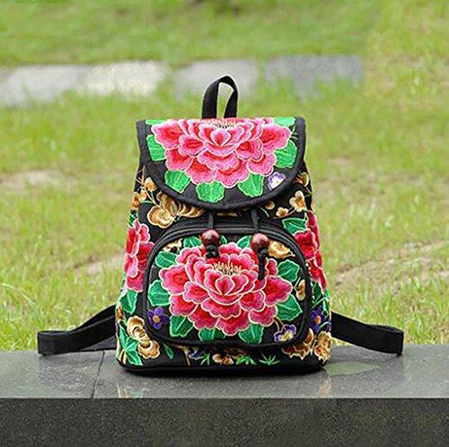 bolso de hombro de la flor bordada / paquete de ocio sencilla femenina ( Color : 17# ) 2#