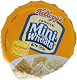Kellogg's Frosted Mini-Wheats Single Serve Breakfast Cereal Cups, 2.5-Ounce Cup (Pack of 12)