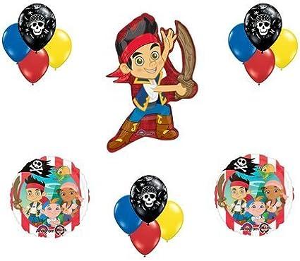 Super Amazon Com Jake The Neverland Pirates Crew Birthday Balloon Personalised Birthday Cards Fashionlily Jamesorg