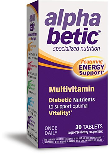 Diabetic Multivitamin - alpha betic Once-Daily Multi-Vitamin Supplement, 30 Tablets