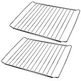 SPARES2GO Chrome Adjustable Width Shelf for Indesit Oven Cooker (Pack of 2, 310 x 345-565mm)