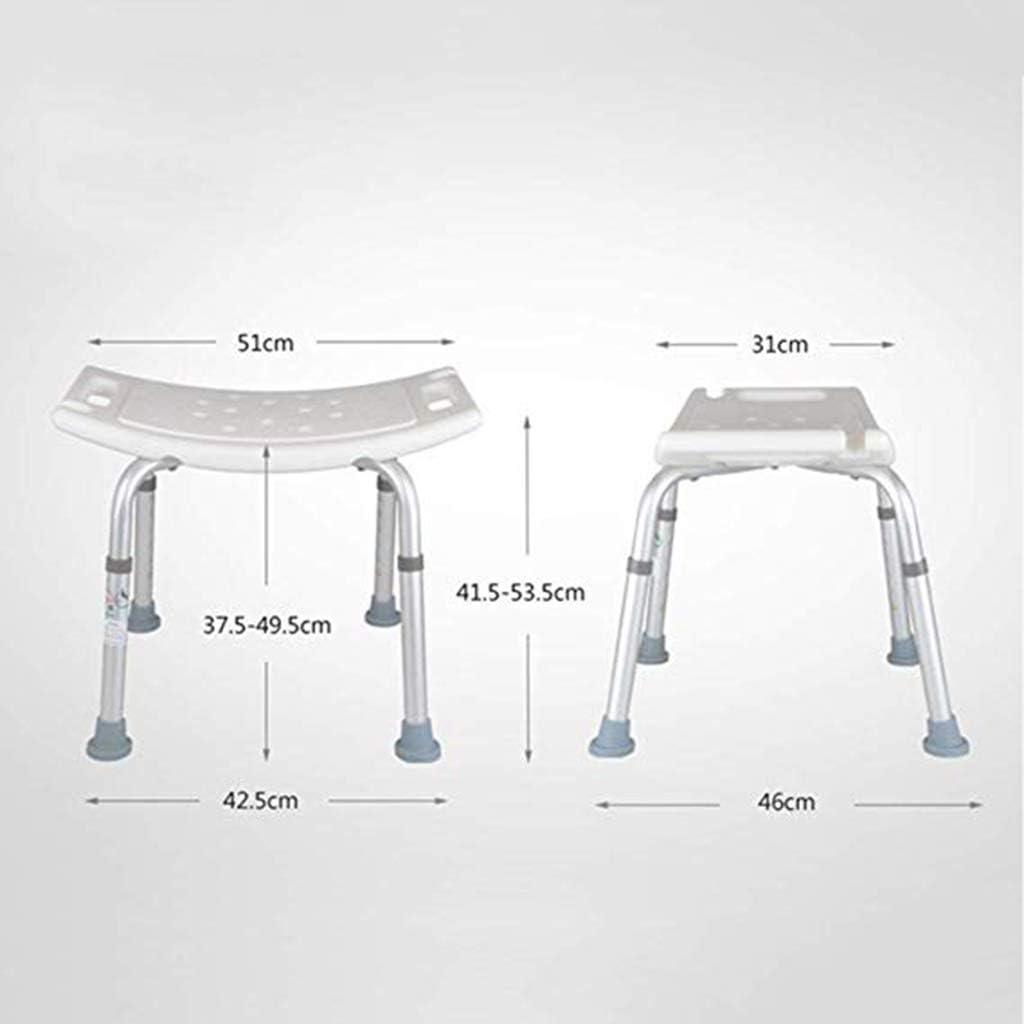 Sgabello da Doccia Sgabello da Bagno con braccioli Gambe in Alluminio Resistente per Donne Incinte Anziani disabili Shower stool Sedia da Doccia Regolabile Seggiolone Antiscivolo Sgabello Sedile