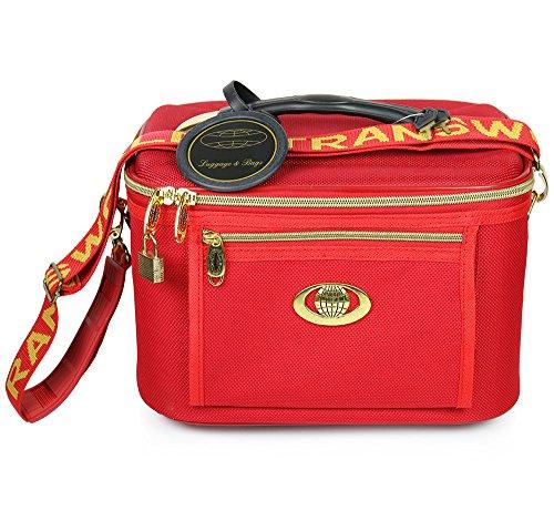 Дело красоты, Косметические Box, макияж Дорожная сумка с зеркалом, красный
