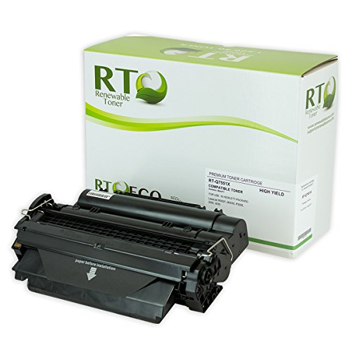 RT Q7551X Compatible Toner Cartridge 13k High Yield Replacement for HP 51X | HP Q7551X for LaserJet P3005 M3035 M3027 Series Printers