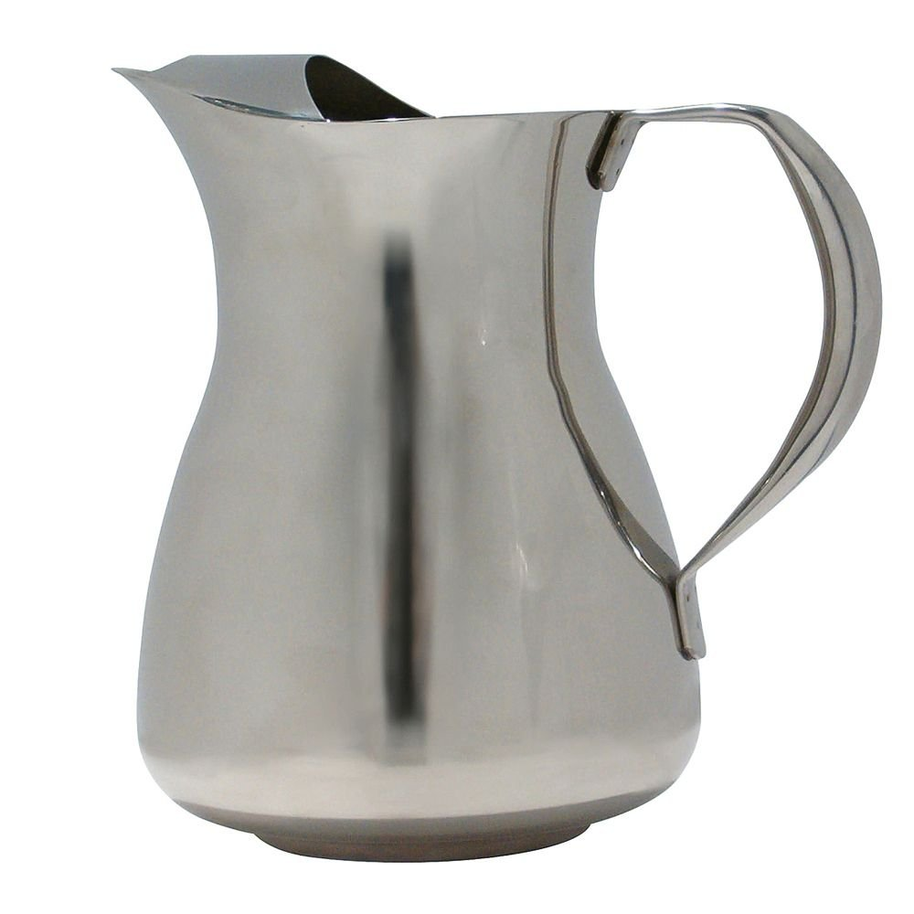 Service Ideas WPS2 Water Pitcher, Stainless Steel, 2 L