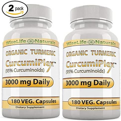 CurcumiPlex 2 Pack Turmeric with Bioperine Best Support Natural Supplements for Arthritis Joint Pain Supplement Made with Organic Tumeric Curcumin Supplement 95 Percent Cucurmin Tumeric 3000mg Daily