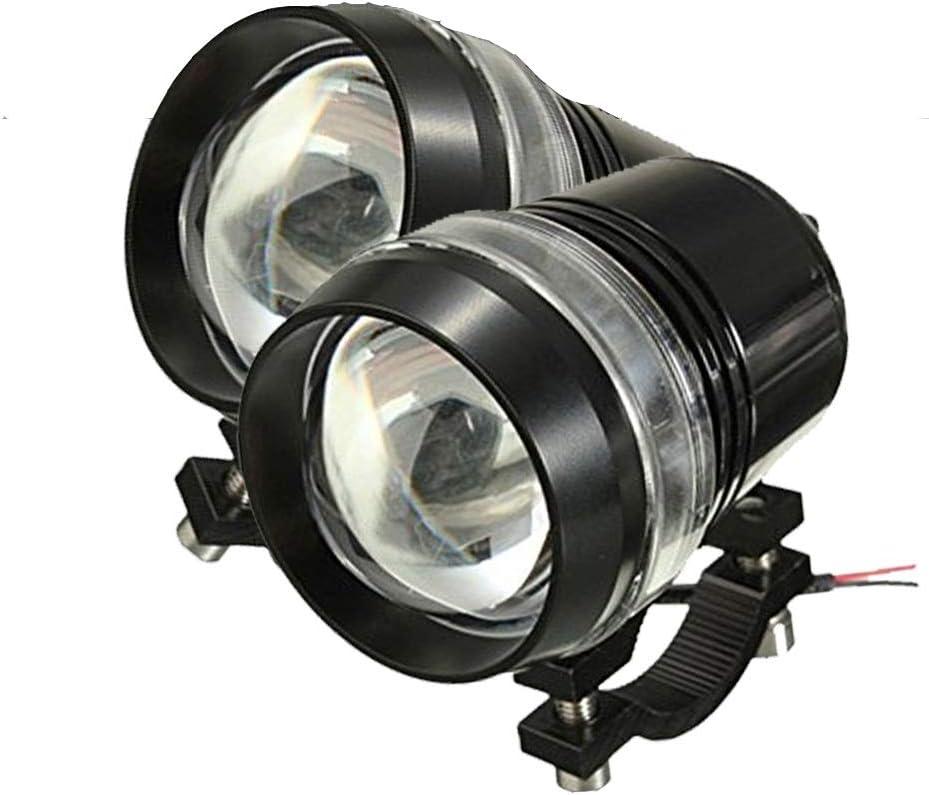 TUINCYN U3 Moto LED Lampe Moteur Phare de Projecteur Ampoule 1200 Lumens 6000K Blanc Universel Moto Running Lampe de Travail Projecteur de Lumi/ère Daymarker LED Ampoule Lot de 2