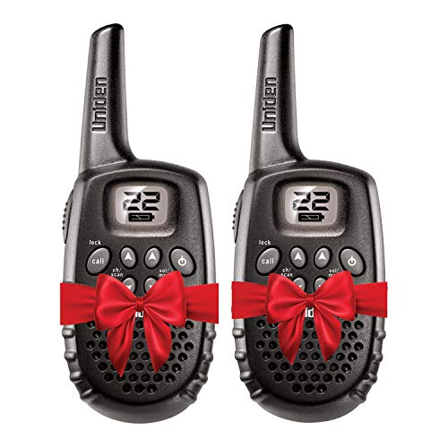 Uniden GMR1635-2 Up to 16-Mile Range, FRS Two-Way Radio Walkie Talkies, 22 Channels with Channel Scan, Battery Strength Meter, Roger Beep, Call Tone, Keypad Lock, Black Color
