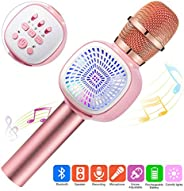 Wireless Bluetooth Karaoke Microphone with Dual Speaker, ERAY Protable KTV Home Party Singing Music Player for