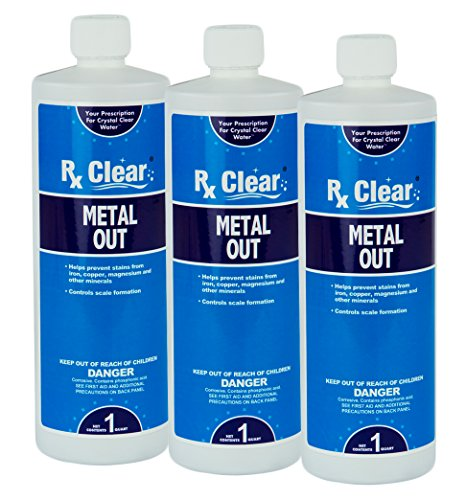 (Rx Clear Metal Out | Prevents Stains and Scaling | Concentrated Formula | Premier Choice for a Trusted Cleaning Product | 1 Quart Bottle | 3 Pack)