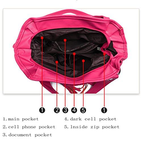 bandoulière Rila sac femmes à bandoulière sac à à bandoulière bandoulière kaki à cuir sac à sacs Rose à main Romanti faux sac imiter bandoulière cuir sac zYUqdwqF