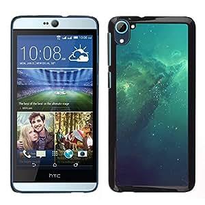 LECELL--Funda protectora / Cubierta / Piel For HTC Desire D826 -- Azul Espacio Galaxy --