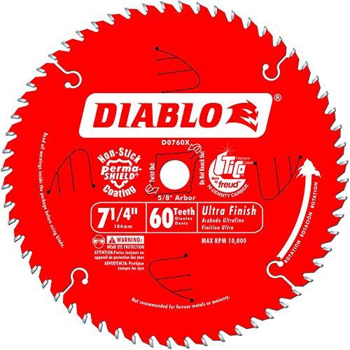 7-1/4 60T Diablo Finish Work Circular Saw Blade D0760X