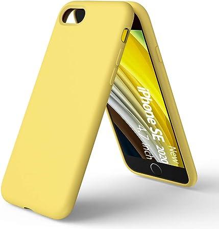 ORNARTO Custodia in Silicone Liquido per iPhone SE(2020), iPhone 7/8 Protezione Completa Cover Sottile in Silicone Liquido in Gomma Gel Morbida per ...