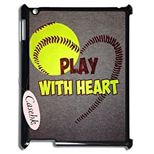 Casehk Unique Design Hard Shell Case for iPad 2,3,4, play softball iPad 2,3,4 DIY Case, play softball Custom Cell Phone Case