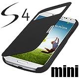 Samsung Galaxy S4 Mini i9190 / S4 Mini LTE i9195 S-View Flip Cover Schwarz / Black Hülle Tasche wie S-View Akkudeckel Flip Case + Gratis Displayschutzfolie !!