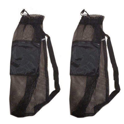 (101SNORKEL 2 PACK Mesh Drawstring Snorkel Bag with Black Zip Pocket)