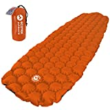 ECOTEK Outdoors Hybern8 Ultralight Inflatable Sleeping Pad Hiking Backpacking Camping - Contoured FlexCell Design - Perfect Sleeping Bags Hammocks (Fire Orange)