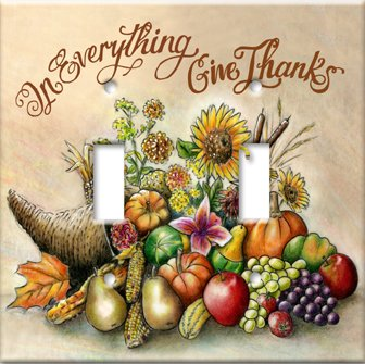 Single Toggle Switch Plate Thanksgiving Give Thanks