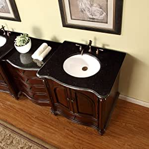 53 5 bathroom black galaxy granite stone top single sink vanity modular 2 piece for Modular bathroom vanity pieces