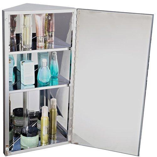 Homcom Armoire miroir rangement toilette salle de bain meuble mural ...