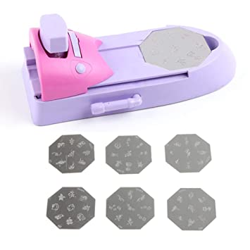 Mioloe Nail Art Stamping Kit Impresora de Nail Art Dibujo Patrón de impresión Sello Manicura Máquina Stamper DIY