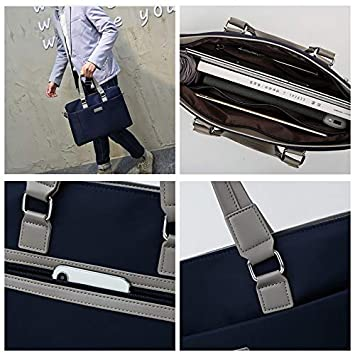 LWEEJB Oxford Cloth Handbag Mens Business Bag Tide Mens Messenger Bag Casual Backpack Briefcase Color : Blue