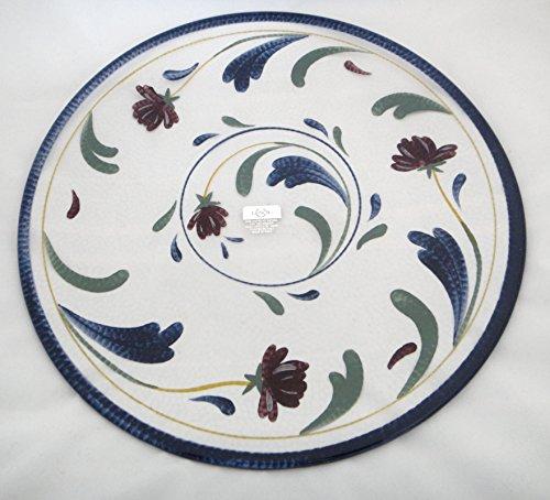Lenox Poppies on Blue Pattern 12.5
