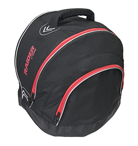 Raider Elite Motorcycle Helmet Bag Storage Fleece Lined Zip Up Black - Waterproof Shell ()