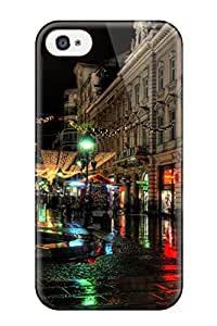New Style Tpu 4/4s Protective Case Cover/ Iphone Case - Rainy Nights