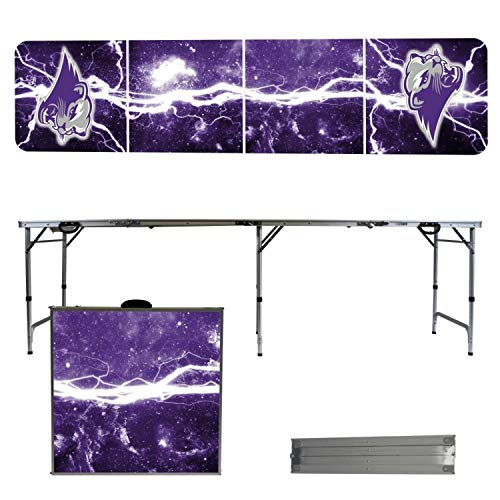 - Victory Tailgate NCAA Southwest Baptist University 8'x2' Foldable Tailgate Table with Adjustable Hight and Spill Resistant Sealant - Lightning Series