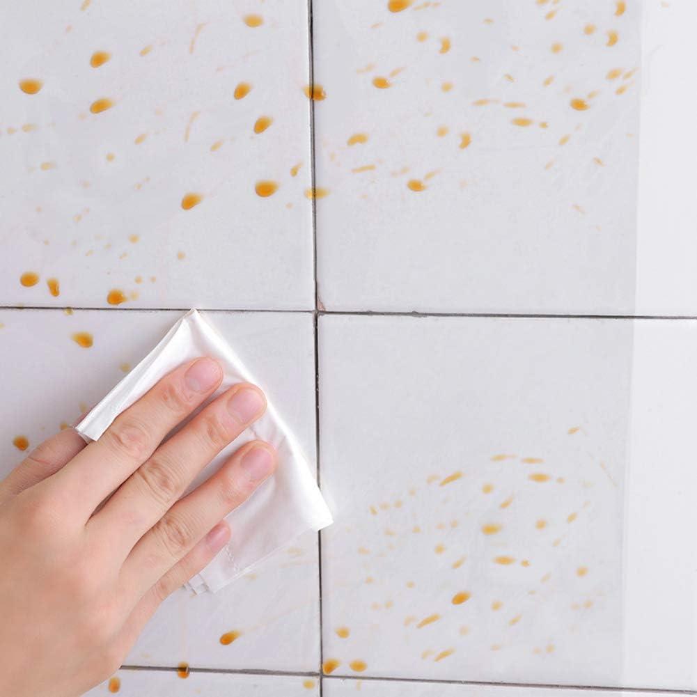 Savlot Maison Transparent Preuve De lhuile Carrelage Sticker Mural Papier Peint Cuisine Preuve De lhuile Autocollant Autocollant R/ésistant /À La Chaleur Film D/écor /À La Maison