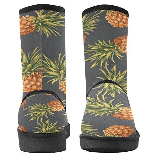 Snow Stivali Da Donna Di Interestprint Design Unico Comfort Invernale Stivali Dolce Ananas Multi 1