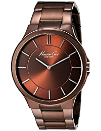 Kenneth Cole Men's Newness KC9169 Brown Stainless-Steel Quartz Watch with Brown Dial
