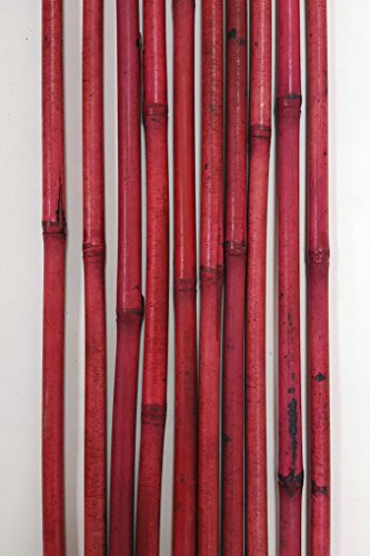 (Green Floral Crafts Decorative Bamboo Poles 57