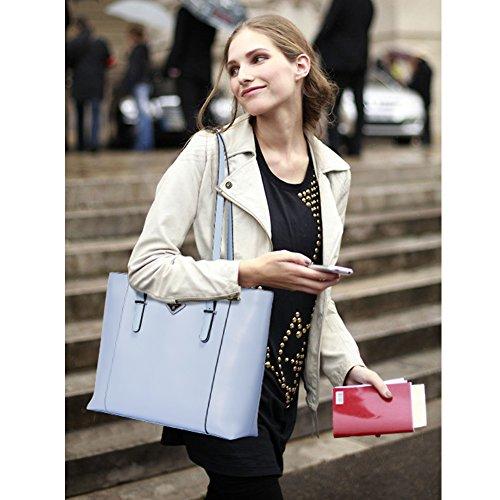 BOSTANTEN portés Main Sacs Cabas Noir bandoulière Cuir Fille épaule Femme Sacs Sac Sacs d'épaule Bleu Grande portés 8vZr8nqz