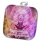 3dRose Spiritual Awakenings Meditation - Prayer and Meditation motivational art - 8x8 Potholder (phl_290262_1)