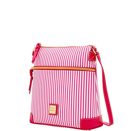 Dooney Bourke amp; DB Fuchsia Stripe Bag Crossbody Shoulder r5rdqxUw