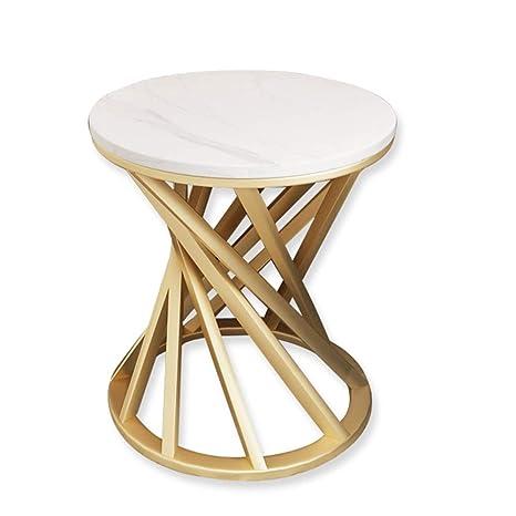 YNN Table Mesa Lateral de mármol, mesita Auxiliar pequeña ...