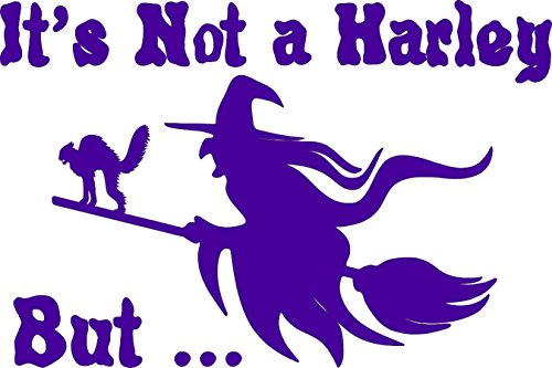 Vampire Costumes Pinterest (Not Harley Witch Halloween cat Broom Purple - Die Cut Vinyl Window Decal/Sticker for Car/Truck)