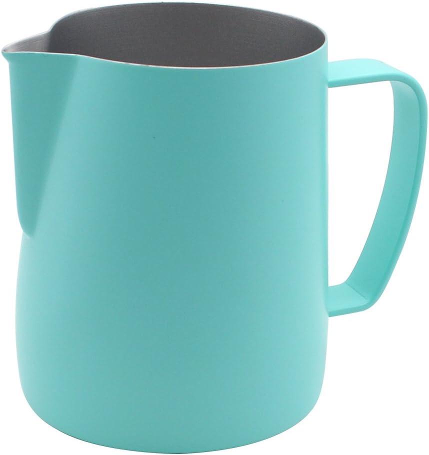 Dianoo Jarra De Jarra De Espuma De Acero Inoxidable Jarra Humeante Adecuada Para Café Latte Y Leche Con Espuma 350ml Azul