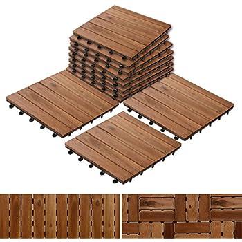 Bare Decor EZ-Floor Interlocking Flooring Tiles in Solid