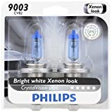 Philips 9003 CrystalVision Ultra Upgrade Headlight Bulb, 2 Pack