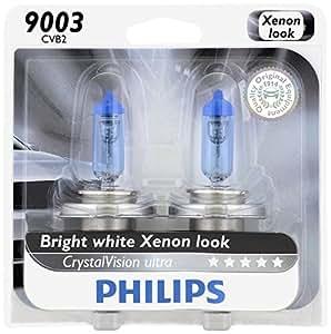 Philips 9003 CrystalVision Ultra Upgrade Headlight Bulb, 2 Pack