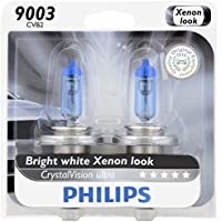 2-Pk. Philips 9003 CrystalVision Headlight Bulb