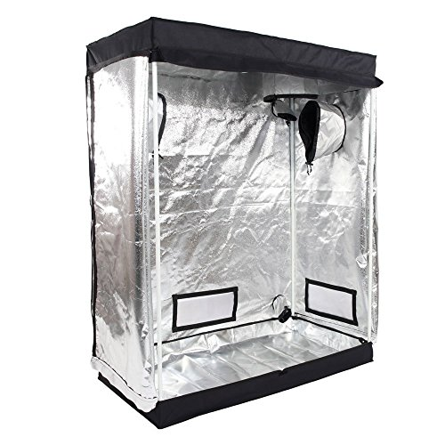 Oshion 4x2x5 Feet Small Indoor Mylar Hydroponics Grow Tent Room (48