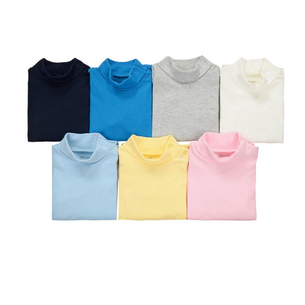 CuteOn 3/5/7 Packs Baby Infant Newborn Cotton Turtleneck Top Bodysuit Gift set - Random Color 18 Months