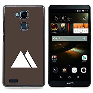 - Pyramids Egypt Minimalist Brown - - Snap-On Rugged Hard Cover Case Funny HouseFOR HUAWEI Ascend Mate 7